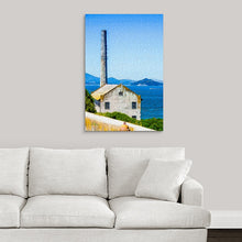 "Load image into Gallery viewer, ""Old Building at Alcatraz Island Prison"" Fine Art Metal Print"