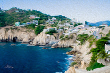 "Load image into Gallery viewer, ""Cliffs in Acapulco 1"" Fine Art Metal Print"