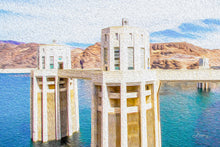 "Load image into Gallery viewer, ""Hoover Dam 1"" Fine Art Acrylic"