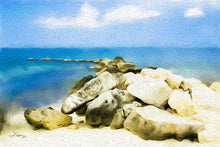 "Load image into Gallery viewer, ""The Jetty At Seven Mile Beach - Grand Cayman"" Fine Art Metal Print"
