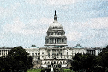 "Load image into Gallery viewer, ""US Capitol Building"" Fine Art Metal Print"