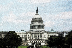 """US Capitol Building"" Fine Art Metal Print"