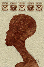 "Load image into Gallery viewer, ""African Man Profile"" Fine Art Metal Print"