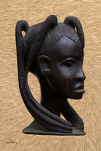 "Load image into Gallery viewer, ""Heritage 2 - African Woman"" Fine Art Metal Print"