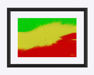 """Rasta Sensation 2"" Matted Fine Art Print"