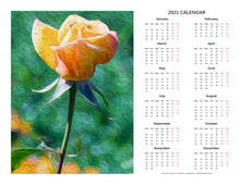 "Load image into Gallery viewer, ""Rosy Prominence 2"" 17x22 inch 2021 Fine Art Calendar"