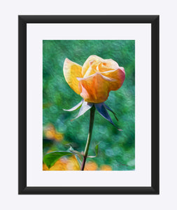 """Rosy Prominence 2"" Matted Fine Art Print"