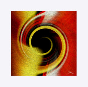 """Temporal Vortex 8"" Matted Fine Art Print"