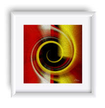 "Load image into Gallery viewer, ""Temporal Vortex 9"" Matted Fine Art Print"