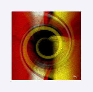 """Temporal Vortex 7"" Matted Fine Art Print"
