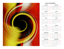 "Load image into Gallery viewer, ""Temporal Vortex 8"" 17x22 inch 2021 Fine Art Calendar"