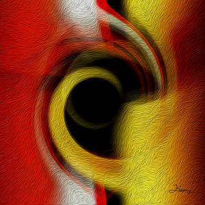 """Temporal Vortex 2"" Fine Art Metal Print"