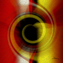 "Load image into Gallery viewer, ""Temporal Vortex 7"" Fine Art Metal Print"