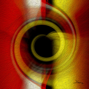 """Temporal Vortex 7"" Fine Art Metal Print"