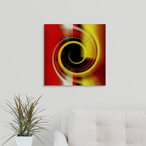 """Temporal Vortex 9"" Fine Art Metal Print"