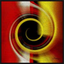 "Load image into Gallery viewer, ""Temporal Vortex 9"" Fine Art Canvas"
