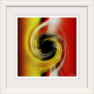 """Temporal Vortex 5"" Framed Fine Art Expression"