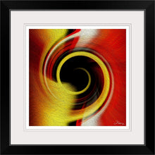 "Load image into Gallery viewer, ""Temporal Vortex 8"" Framed Fine Art Expression"