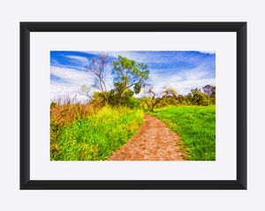 """The Path That Lies Ahead"" Matted Fine Art Print"