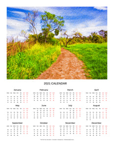 """The Path That Lies Ahead"" 17x22 inch 2021 Fine Art Calendar"