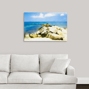 """The Jetty At Seven Mile Beach - Grand Cayman"" Fine Art Metal Print"