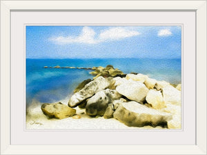 """The Jetty At Seven Mile Beach"" Framed Fine Art Expression"