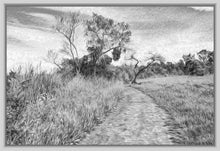 "Load image into Gallery viewer, ""The Path That Lies Ahead - BW"" Fine Art Canvas"