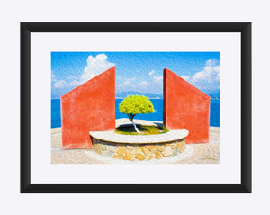 """Tranquil Surroundings in Manzanillo, Colima"" Matted Fine Art Print"