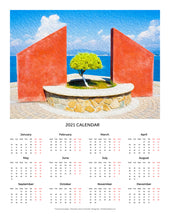 "Load image into Gallery viewer, ""Tranquil Surroundings"" 17x22 inch 2021 Fine Art Calendar"