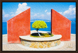 """Tranquil Surroundings"" - Manzanillo, Colima Fine Art Canvas"