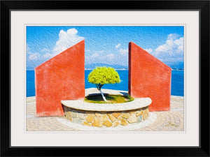 """Tranquil Surroundings"" - Manzanillo, Colima Framed Fine Art Expression"