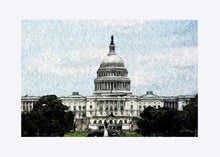 "Load image into Gallery viewer, ""US Capitol Building"" Matted Fine Art Print"