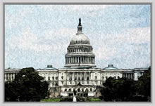 "Load image into Gallery viewer, ""US Capitol Building"" Fine Art Canvas"