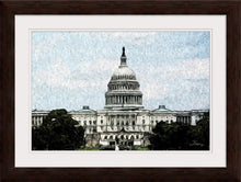 "Load image into Gallery viewer, ""US Capitol Building"" Framed Fine Art Expression"