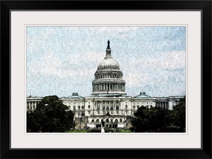 """US Capitol Building"" Framed Fine Art Expression"