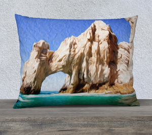 """El Arco de Cabo San Lucas, Mexico"" 26""x20"" Fine Art Pillow Case"