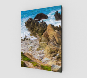 """Ocean Rocks In Puerto Vallarta, Mexico"" Fine Art Canvas - Multi-Panel 1 of 3"