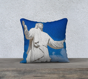 """Come Unto Me"" 18""x18"" Fine Art Pillow Case"