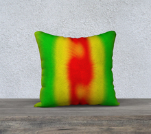 "Load image into Gallery viewer, ""Rasta Vibes 5"" - CB 18""x18"" Fine Art Pillow Case"