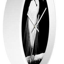 "Load image into Gallery viewer, ""Great Egret in Full Bloom 1 - L"" 10"" Fine Art Wall Clock"