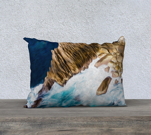 """Cliffs in Acapulco 3"" 20""x14"" Fine Art Pillow Case"