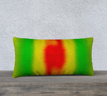 "Load image into Gallery viewer, ""Rasta Vibes 6"" - CB 24""x12"" Fine Art Pillow Case"