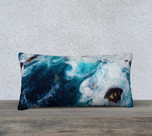 """Cliffs in Acapulco II"" 24""x12"" Fine Art Pillow Case"