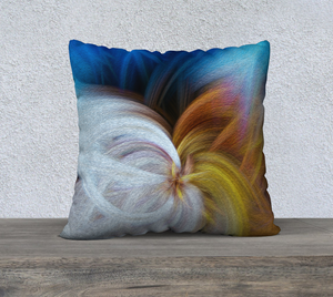 """Convergence 2"" 22""x22"" Fine Art Pillow Case"
