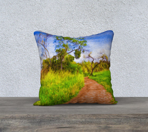 """The Path that Lies Ahead II"" 18""x18"" Fine Art Pillow Case"