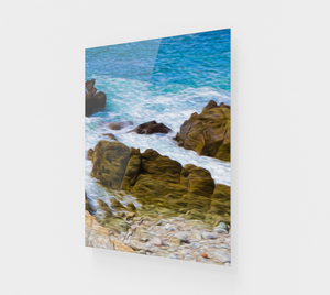 """Ocean Rocks In Puerto Vallarta, Mexico"" Fine Art Acrylic Print - Multi-Panel 3 of 3"