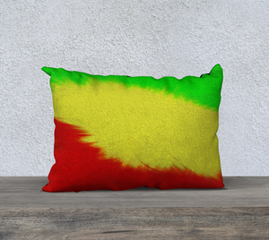 """Rasta Sensation 1"" 20""x14"" Fine Art Pillow Case"