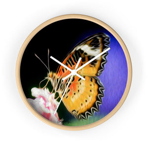 """Malay Lacewing Butterfly 1"" 10"" Fine Art Wall Clock"