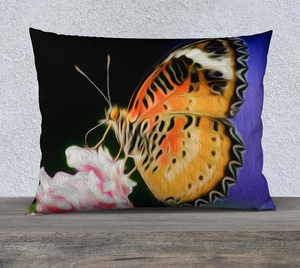 """Malay Lacewing Butterfly 1"" 26""x20"" Fine Art Pillow Case"