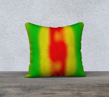 "Load image into Gallery viewer, ""Rasta Vibes 2"" - CT 18""x18"" Fine Art Pillow Case"